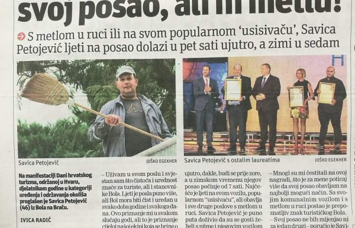 Slobodna Dalmacija on the employee of the year