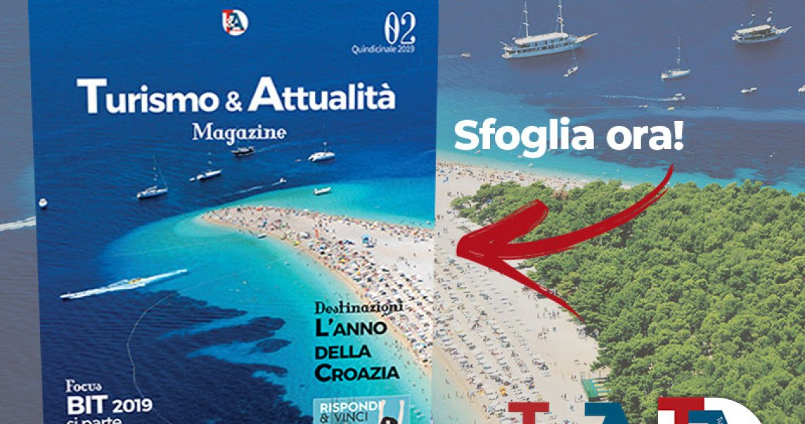 Zlatni rat on the cover of Turismo&Attualita magazine