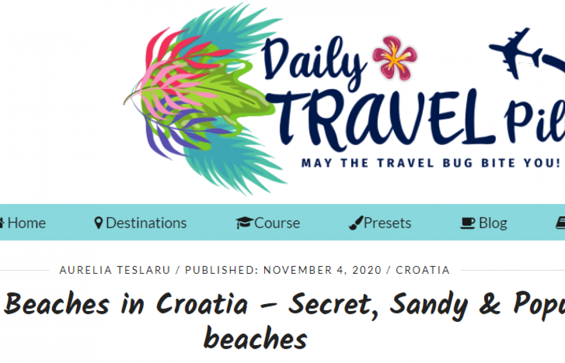 Daily Travel Pill and top 25 beaches in Croatia