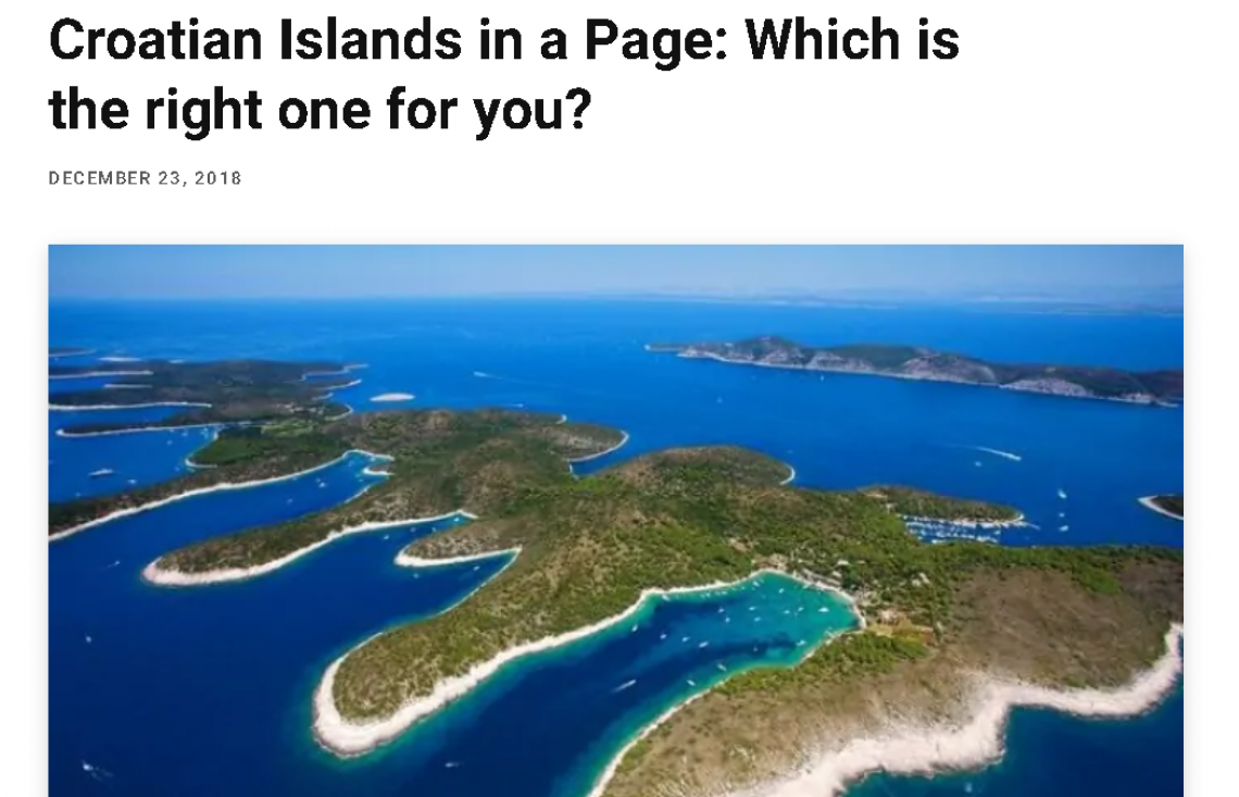 Croatian Islands in a Page: Which is the right one for you?